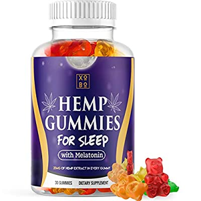 Hemp Gummies for Sleep – Pure Hemp Extract - 5mg Melatonin in Every Gummy for Relaxation, Stress, Anxiety Relief and Restful Sleep (30 Servings) by Corner Store Industries Inc
