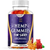 Hemp Gummies for Sleep – Pure Hemp Extract - 5mg Melatonin in Every Gummy for Relaxation, Stress, Anxiety Relief and Restful Sleep (30 Servings)