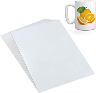 WXJ13 A4 Size 22 Sheets Clear Waterslide Decal Paper for Inkjet Printer, Water-Slide Transfer Transparent Printable Paper Sheets
