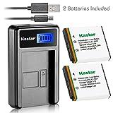 Kastar Battery (X2) & LCD Slim USB Charger for Kodak KLIC-7001, K7001 and Kodak EasyShare M320, M340, M341, M753 Zoom, M763, M853 Zoom, M863, M893 is, M1063, M1073 is, V550, V570, V610, V705, V750