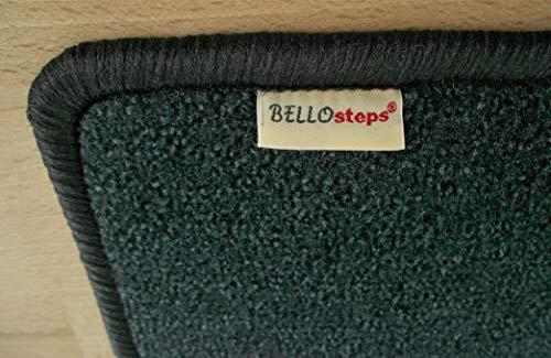 BELLOsteps Stufenauflage selbsthaftend für kleine Hunde Chip anthrazit 15 Stück