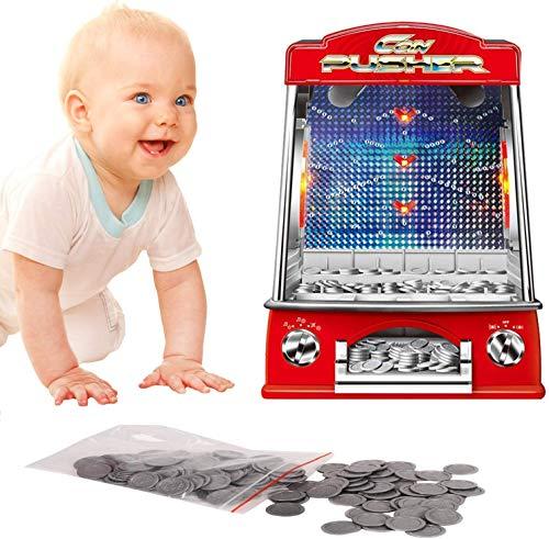 QINGTIAN Giocattoli a gettoni per Famiglie Regali per Bambini Giochi con Monete Giochi di intrattenimento per Slot Machine Giocattoli con Monete per S