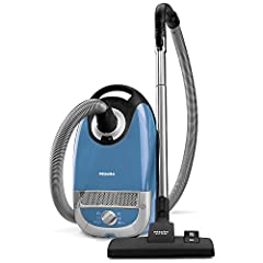 1,200 watt Miele-made Vortex Motor | Gentle on sensitive hard floors - soft parquet brush | Adjustable working height – Stainless steel telescopic tube | Effortless vacuuming of larger areas with 33' operating radius 6-setting suction control via Rot...