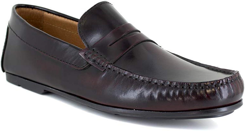 J.Bradford Loafer Burgendy Leather JB-SERJIO