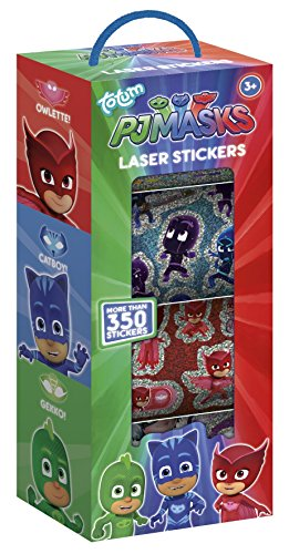 TM Essentials – PJ Masks Stickerbox – 4 Stickerrollen mit über 350 Lasersticker