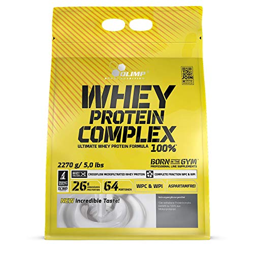 Olimp Whey Protein Complex 100% Vanille, 1er Pack (1 x 2270 g)