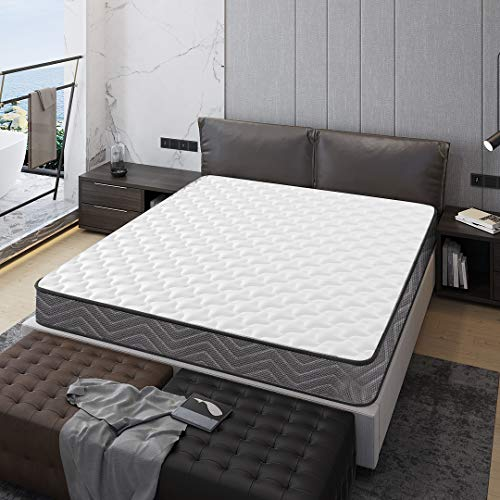 Kono Double Mattress Size 4FT6 Spring 3D Breathable Quilted Knitting Fabric Fire Resistant