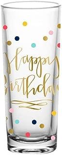 Happy Birthday Colorful Confetti Design Shooter/Shot Glass -2 oz. (Standard Version)