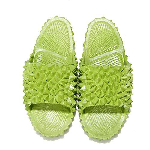 TDYSDYN Piscina para Hombre Baño Sandalias,Sandalias y Zapatillas Durian para Mujer, Zapatos de Playa de Suela Blanda en el Exterior-Verde Oscuro_32/33