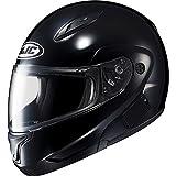 HJC Solid Mens CL-MAX II Bluetooth Sports Bike Motorcycle Helmet - Black / 2X-Large