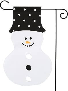 lo lord Christmas Snowman Garden Flag Flag Double Sided Canvas Yard Flag for Outside Decorations (Snowman Flag)