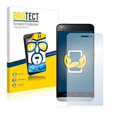 BROTECT Schutzfolie kompatibel mit Wiko Wax (2 Stück) klare Bildschirmschutz-Folie