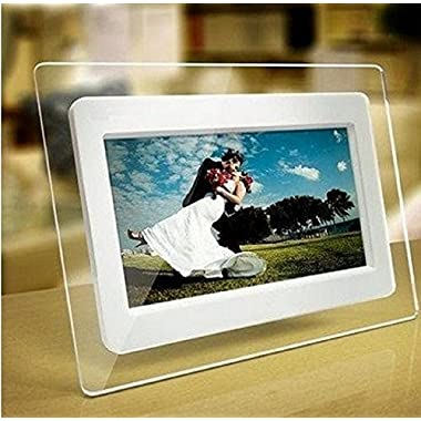 TuPuCN 7 inch TFT LCD Wide Screen Digital 2000 Photos Display Frame with Calendar Support Tf Sd/Sdhc /USB Flash Drives- Support 32GB SD Card