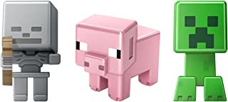 Minecraft Collectible Figures Pig, Creeper & Skeleton 3-Pack, Series 1