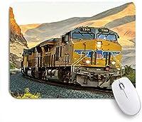 ZOMOY マウスパッド 個性的 おしゃれ 柔軟 かわいい ゴム製裏面 ゲーミングマウスパッド PC ノートパソコン オフィス用 デスクマット 滑り止め 耐久性が良い おもしろいパターン (アンティークの蒸気エンジンヴィンテージ蒸気機関車鉄道山の自然の風景)