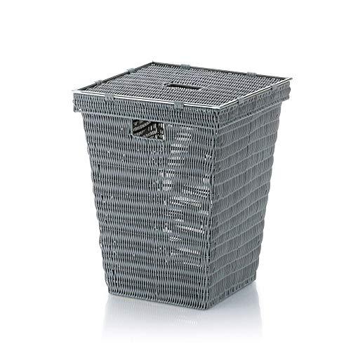 KELA 22602, Wäschekorb, Quadratisch, 53 cm Höhe, PP-Kunststoff, Noblesse, Hellgrau