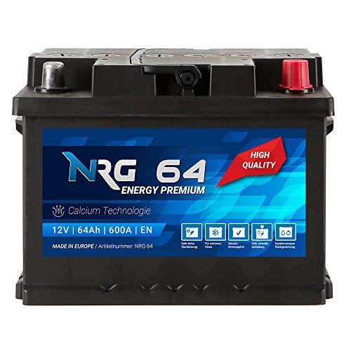 NRG Premium Autobatterie 12V 64Ah ersetzt 55AH 56AH 60AH 61AH 62AH 63AH Batterie