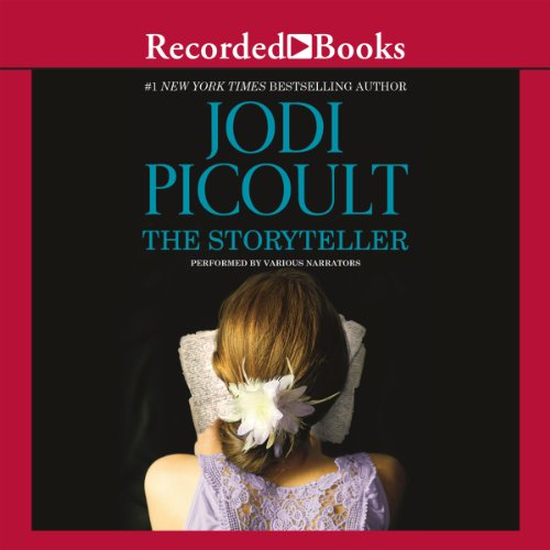 The Storyteller                   Written by:                                                                                                                                 Jodi Picoult                               Narrated by:                                                                                                                                 Mozhan Marno,                                                                                        Jennifer Ikeda,                                                                                        Edoardo Ballerini,                   and others                 Length: 18 hrs and 13 mins     126 ratings     Overall 4.6