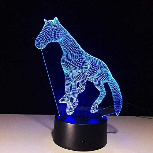 3D Lamp Horse 20 Color LED Night Lamps for Kids Touch LED USB Table Lampe Baby Sleeping Nightlight 3D USB LED Light Smartphone Bluetooth Control