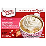 One (1) 13.3 ounce box of Duncan Hines mug cakes strawberry shortcake flavored mix with cream cheese frosting Perfect for creating quick, single-serve desserts Decadent strawberry shortcake flavored mug dessert with cream cheese frosting Serve a micr...