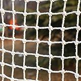 Red de Protección Contra La Caída Blanca, Poliéster Neto Decoración de Jardín Balcón Stail Seguridad Net Cat Net Niño Kindergarten Protección Escalada Net Portable Cerca Redes(Size:2*4m/6.6*13.1ft)