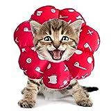 PJDDP Regolabile Collare del Gatto di Recupero Cat Cono Dopo Chirurgia, Elisabettiano Collari Protettivi Cono, Bordo Sfumato Anti-Bite Lick Capo La Guarigione della Ferita per Animali Gatto Cani,3,SM