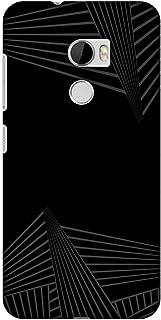 AMZER Slim Designer Snap On Hard Shell Case Back Cover for HTC One X10 - Carbon Fiber Redux 3