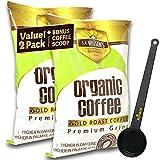 Organic Coffee Enema Coffee Gold Coffee Enema Organic High Caffeine Coffee (44% Higher Caffeine) by S.A. Wilson Enema Coffee 2-Pack with Kinara Coffee Scoop