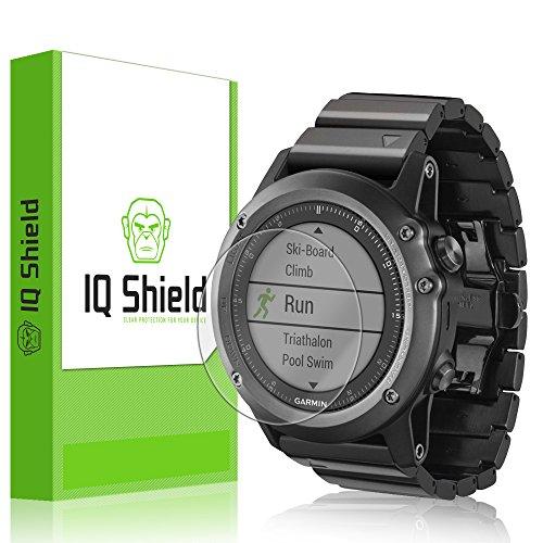 IQ Shield Screen Protector Compatible with Garmin Fenix 3 (6-Pack) Anti-Bubble Clear Film