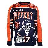 NFL Chicago Bears Player Portrait Ugly Sweater, Alshon Jeffery, Large