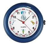 NCD Medical/Prestige Medical  Analoge Stethoskop-Uhr mit medizinischen Symbolen, blau