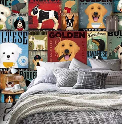 Fototapete 3D Effekt Kinderzimmer Cartoon Lustiger Hund Zuordnung Modern Motivtapete Jungen Mädchen Tapeten Großer Wandaufkleber Wohnzimmer Schlafzimmer Wphwm 200x140cm
