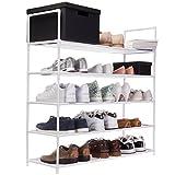 GOODS+GADGETS XXL Schuhregal 91 x 88 x 30 cm Schuhablage mit 5 Ablagen für 25 Paar Schuhe als...