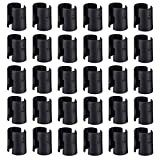 54-Pack Wire Shelving Shelf Lock Clips for 1' Diameter Post- Shelving Sleeves, Wire Shelf Clips, Fits with Metro, Thunder Group, Alera, Honey Can Do, Eagle, Regency, Winco,Advanced Tabco,and More