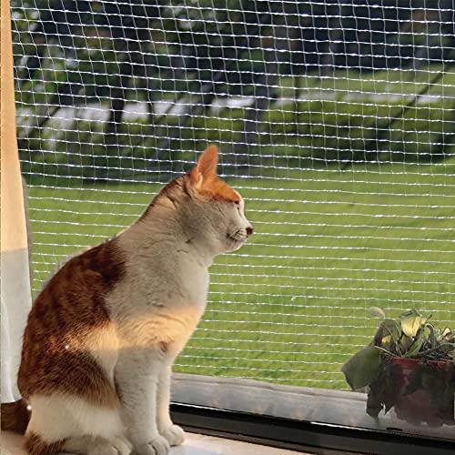 Katzennetz, Balkonnetz für Katzen, für Balkon und Fenster, Transparent 8x3m