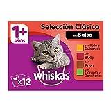 Whiskas Selección Multipack Bolsitas de Comida Húmeda para Gatos Adultos Selección Carnes (4...