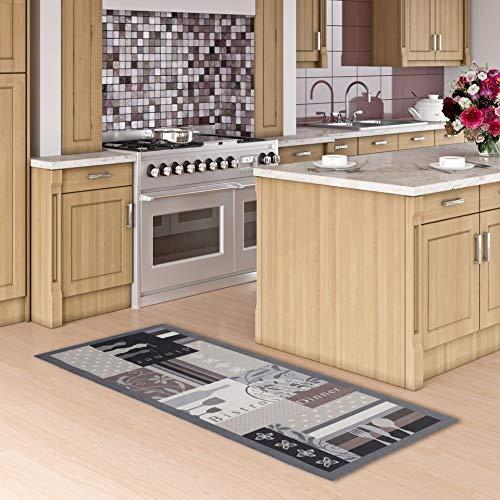 Pergamon Küchenläufer Küchenteppich Trendy Bistro Beige Braun in 2 Größen