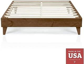 Cardinal & Crest Wood Platform Bed Frame   Modern Wooden Design   Solid Wood Construction   Easy Assembly   California King Size Walnut