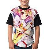 十六夜咲夜5 子供tシャツ かわいい 夏服 アニメ プリント 半袖 男の子 女の子 薄手 軽い 柔らかい ファッション 吸水速乾 100% 肌ざわり良い 幼児 小学生
