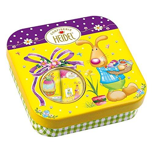 Heidel Confiserie Lattina in Metallo Easter Time Buona Pasqua Cioccolato Finissimo al Latte - 2 x 45 Gram