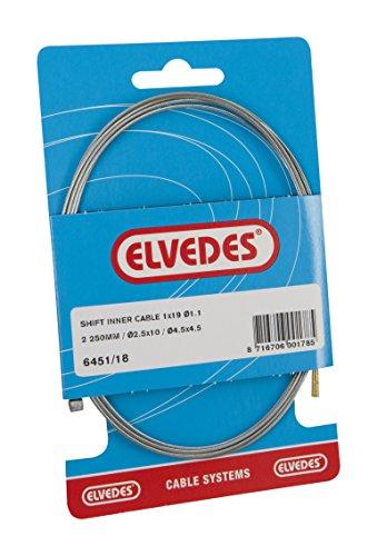 Elvedes Cambio de Cable Interior, Unisex, Shift, Metallic/Metallic