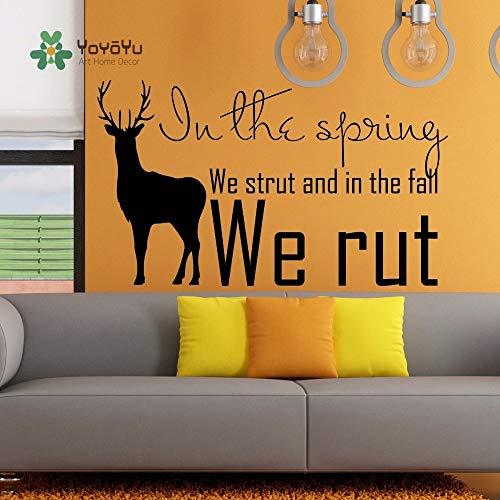 Parijs citeert muurstickers, muurstickers citaten We worden ondersteund in de lente en in de herfst zijn we bosherten Fotobehang 63x99cm