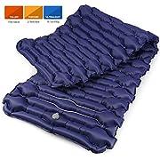 Bessport Isomatte Camping Schlafmatte, 6.8 cm Dicke (Groß, Breit) Isomatte Ultraleicht Kleines Packmaß. Aufblasbare Luftmatratze für Outdoor Camping, Reise,Trekking und Backpacking (Blue)