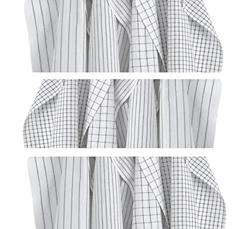 IKEA 204.763.46 RINNIG Geschirrtücher Gemustert 45 x 60 cm, weiß und dunkelgrau