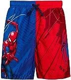 Marvel Boys Spiderman Swim Trunk Shorts, Spiderman Red/Blue, Size 4