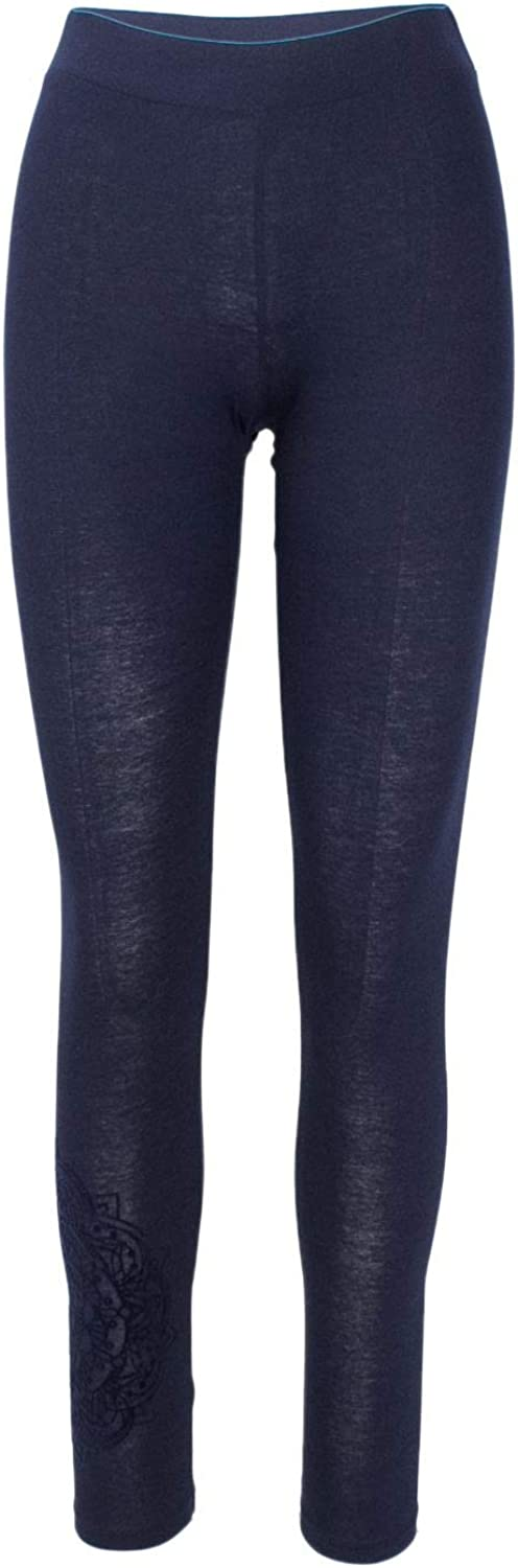 Desigual Women's 18WWKK05blueE bluee Cotton Leggings