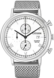 CITIZEN Mens Quartz Watch, Chronograph Display and Stainless Steel Strap - AN3610-80A