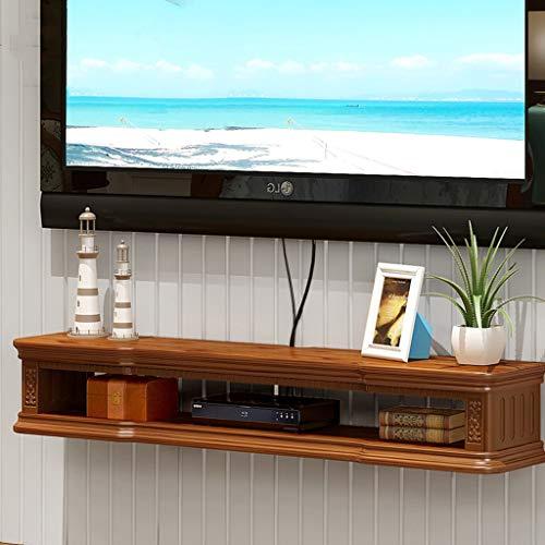 Wandmontage TV Plank Set Top Box Router TV Afstandsbediening Decoratie Goederen Foto Speelgoed Opslag Plank Wandplank Drijvende Plank TV Console, 140 cm, BRON