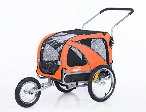 Sepnine & Leonpets Dog cart of 2 in1 Medium pet Dog Bike Trailer Bicycle Carrier and Jogger 10201...