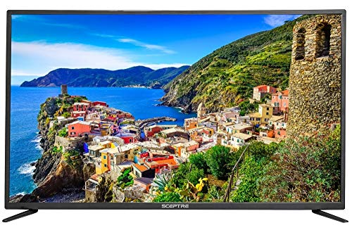 Sceptre 50' 4K UHD Ultra Slim LED TV 3840x2160 MEMC 120, Metal Black 2019 (U518CV-UM)